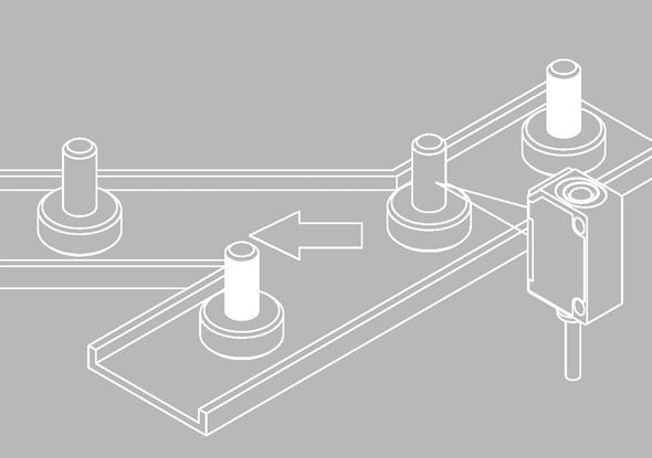 Aanwezigheidscontrole sorteren niet gelakte onderdelen met FT 25-R sensor - SensoPart