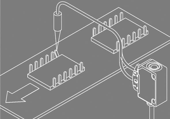 Aanwezigheidscontrole met fiberversterker FL 20-R - SensoPart