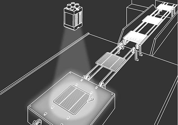 Positionering breukcontrole voorkantdetectie FT 50-RLA - SensoPart