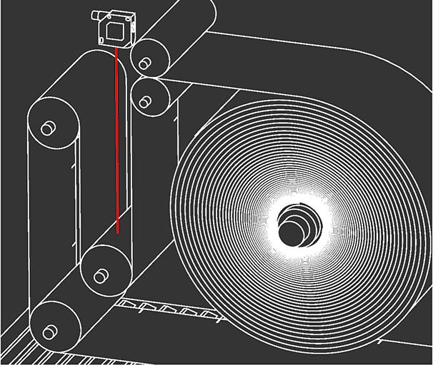 Applicatievoorbeeld onderdelen meten met lusdetectie - SensoPart