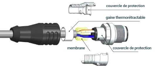 Câble blindé pour capteur et actionneur - ESCHA