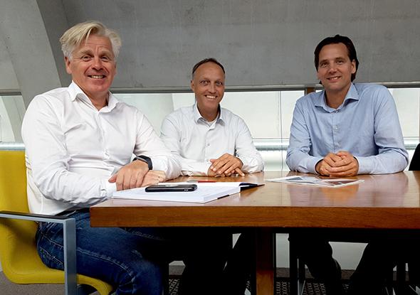Harmen Sikkema, Ton Kanters en Sander de Boer - fortop