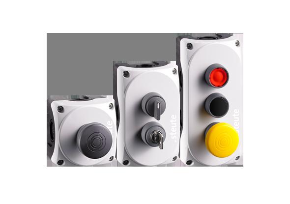 Boutons poussoirs et interrupteurs de commande sans fil - steute