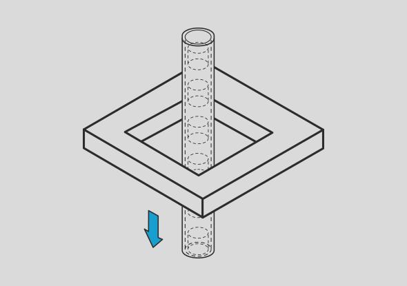 Raamsensor voor uitwerpcontrole van kleine onderdelen - SensoPart