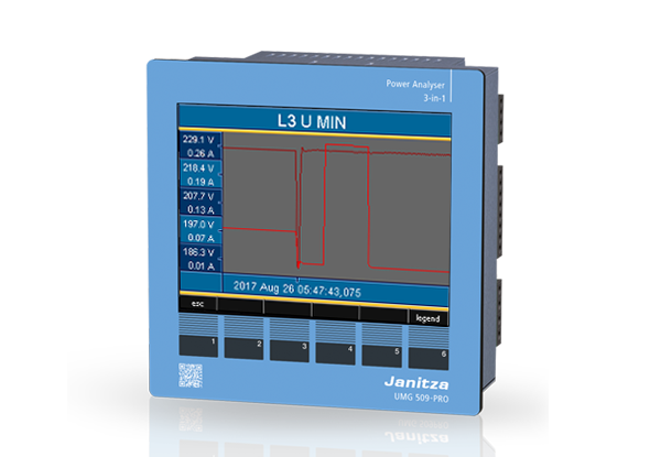 Storingsregistratie power analyser UMG 509-PRO | Janitza