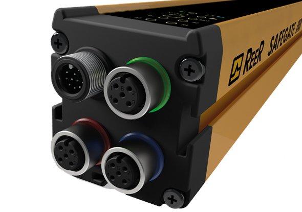 Kabels aansluiten op muting lichtscherm - ReeR Safety