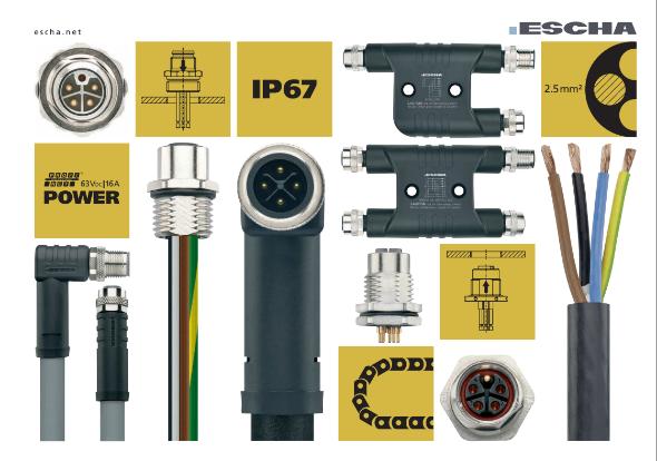 Catalogue M12 câbles et connecteurs d'alimentation - ESCHA