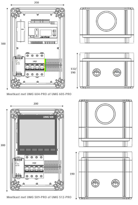 Dimensions des boîtes de mesure - fortop