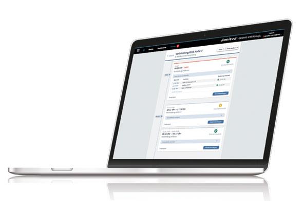 Webbased interface - Power monitoringssoftware - GridVis® Ultimate 7.3 - Janitza
