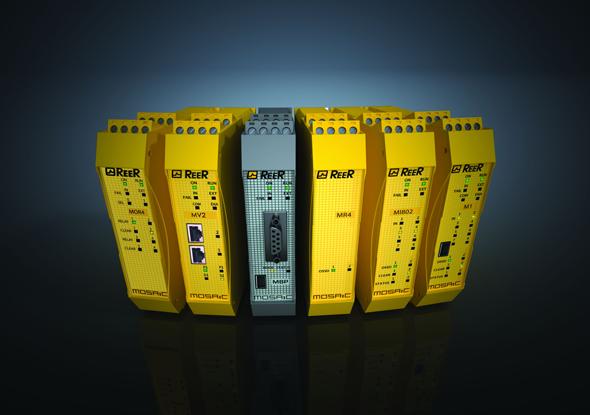 Uitbreidbaar programmeerbaar veiligheidsrelais- Mosaic - ReeR Safety