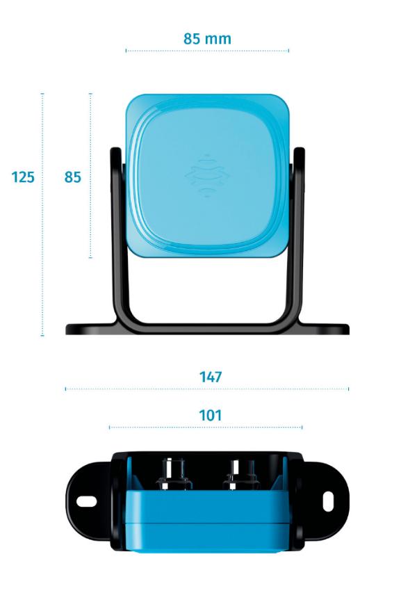 Les dimensions du capteur de sécurité radar  - LBK S01 - Inxpect