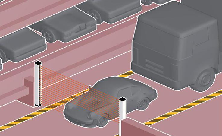 Controle van autos voor pakeerplaatsen