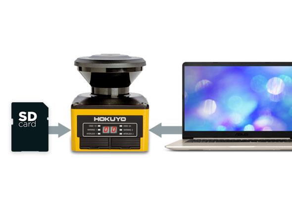 Configuratie met SD kaart of USB kabel - Veiligheidslaserscanner - Hokuyo Automatic