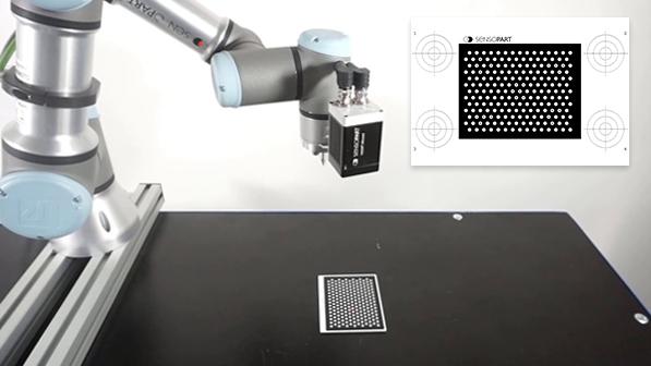 Plaque de calibrage pour les caméras de vision robotique VISOR® - SensoPart