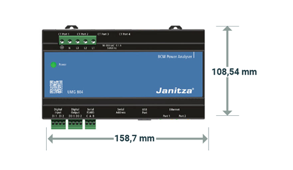 Afmeting UMG 804 - Janitza