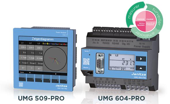Analyseurs de puissance UMG 509-PRO et UMG 604-PRO - Janitza