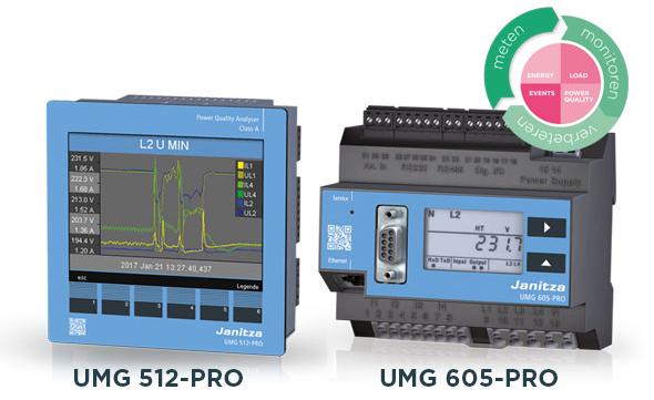 Power Quality analysers UMG 512-PRO en UMG 605-PRO - Janitza