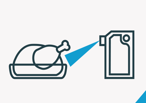 Condensvorming - Detectie-oplossing kipverwerker - Blue Light sensor - SensoPart